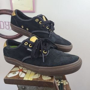 Vans Chima Ferguson Pro Gold and Black Suede | 9